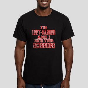 Left Handed Scissors Men's Fitted T-Shirt (dark)