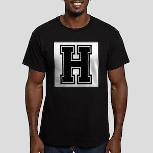 H Men's Fitted T-Shirt (dark)