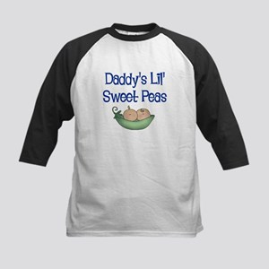 Daddy's Lil' Sweet Peas Kids Baseball Jersey