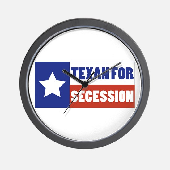 Texan for Secession Wall Clock