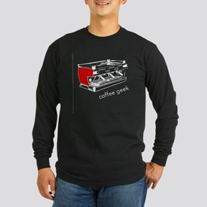 Coffee Geek Long Sleeve Dark T-Shirt