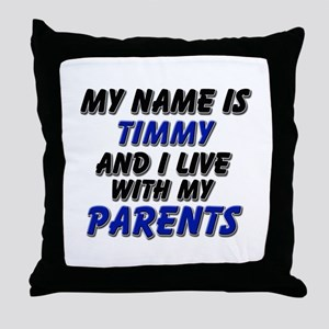 my name is timmy and I live with my parents Throw