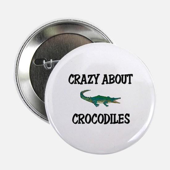 "Crazy About Crocodiles 2.25"" Button"