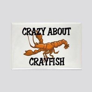 Crazy About Crayfish Rectangle Magnet