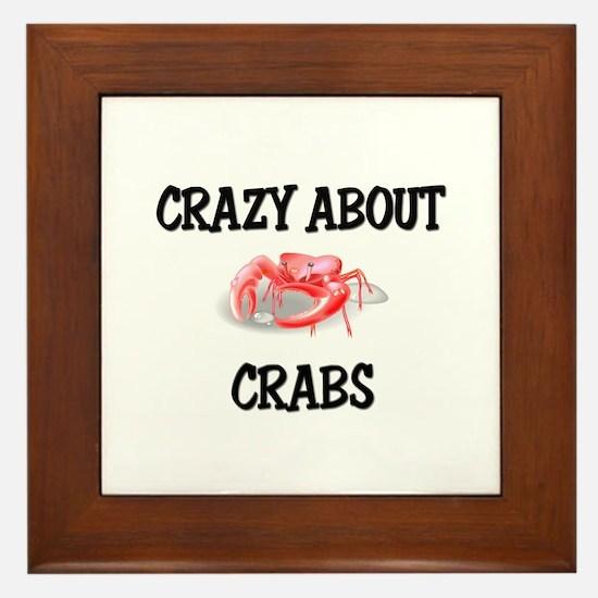 Crazy About Crabs Framed Tile