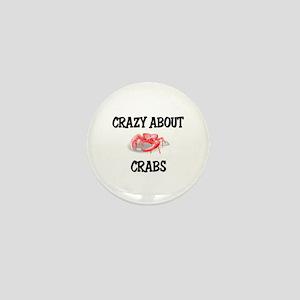 Crazy About Crabs Mini Button