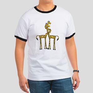 Giraffes In Love Ringer T