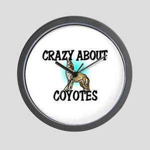Crazy About Coyotes Wall Clock