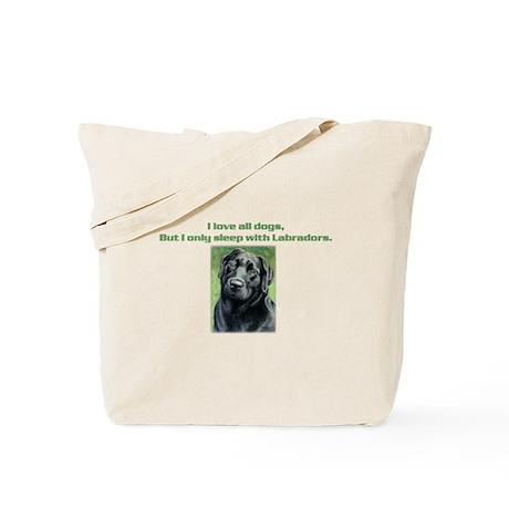 Sleeps With/ Olive Tote Bag