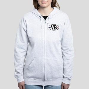 Virginia Beach VB Oval Women's Zip Hoodie