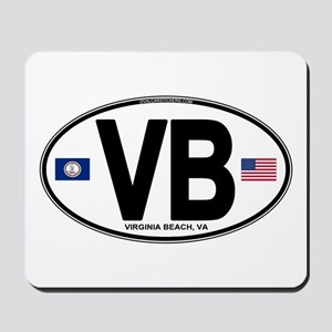 Virginia Beach VB Oval Mousepad
