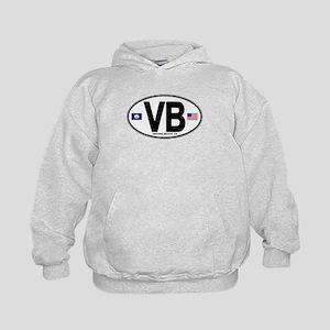Virginia Beach VB Oval Kids Hoodie