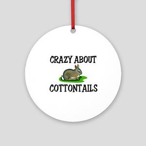 Crazy About Cottontails Ornament (Round)