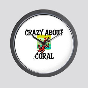 Crazy About Coral Wall Clock