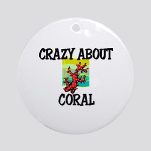 Crazy About Coral Ornament (Round)