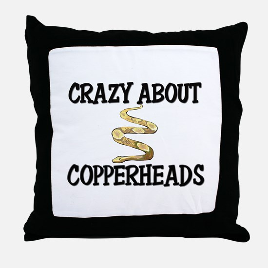 Crazy About Copperheads Throw Pillow