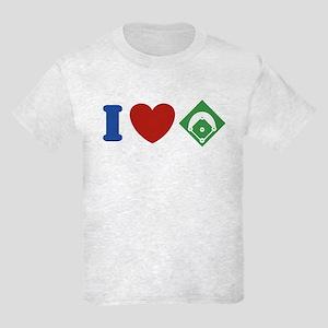 I Love Baseball Kids Light T-Shirt