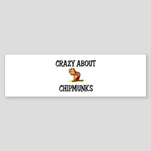 Crazy About Chipmunks Bumper Sticker