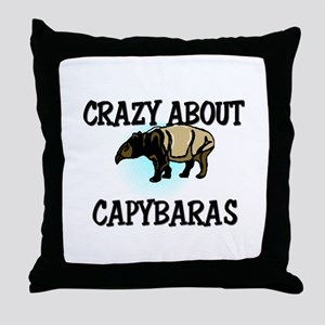 Crazy About Capybaras Throw Pillow