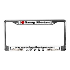 MCK Racing Siberians License Plate Frame