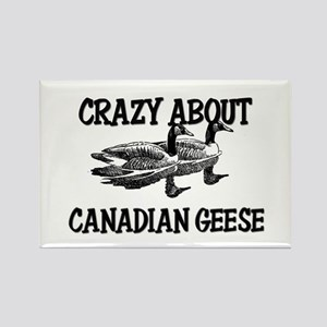 Crazy About Canadian Geese Rectangle Magnet