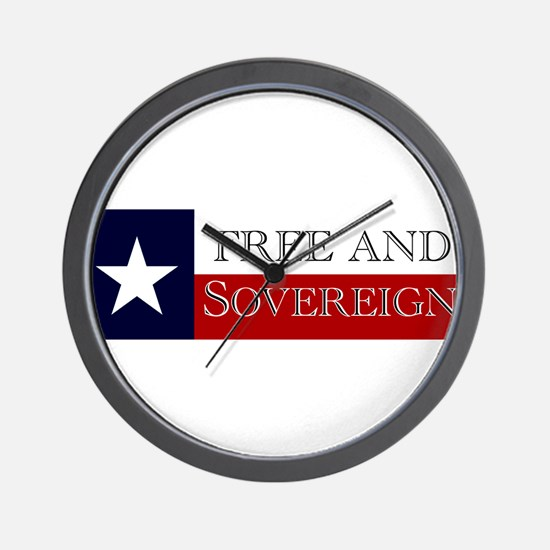Sovereign Texas Wall Clock