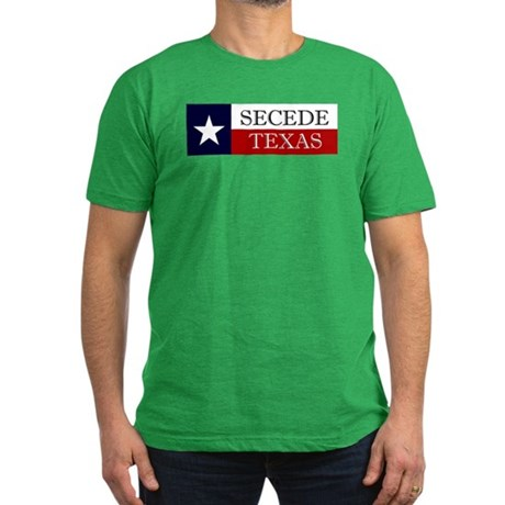 Secede Texas Men's Fitted T-Shirt (dark)