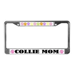 Collie Mom Dog License Plate Frame
