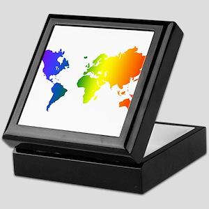 Gay Pride All Over the World Keepsake Box
