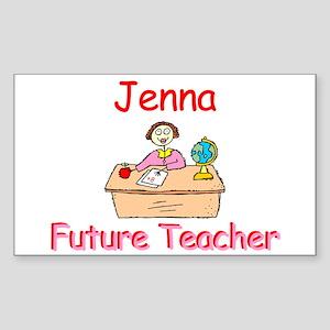 Jenna - Future Teacher Rectangle Sticker