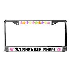 Samoyed Mom License Plate Frame
