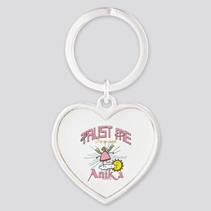 An Angel Named Anika Heart Keychain