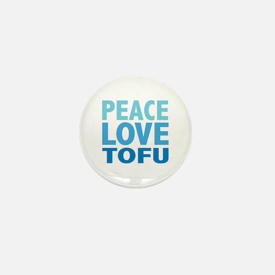Peace Love Tofu Mini Button
