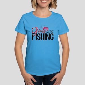 Girls Gone Fishing Women's Dark T-Shirt