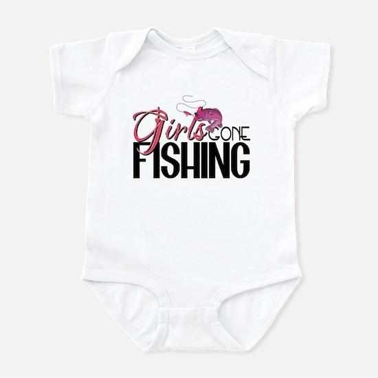Girls Gone Fishing Infant Bodysuit