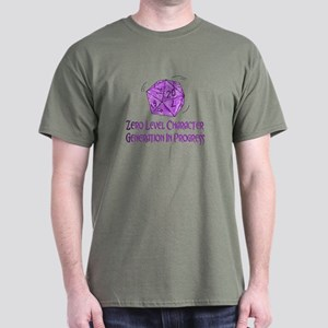 0-Level Character Generation Dark T-Shirt