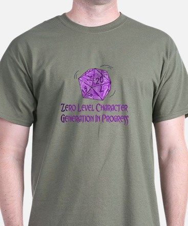 0-Level Character Generation T-Shirt