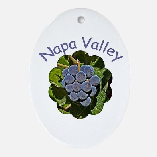 Napa Valley - Gift Ornament/Keepsake Oval