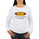 One by one, the squirrels Women's Long Sleeve T-Sh