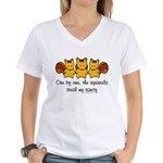 One by one, the squirrels Women's V-Neck T-Shirt