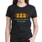 One by one, the squirrels Women's Dark T-Shirt