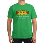 One by one, the squirrels Men's Fitted T-Shirt (da