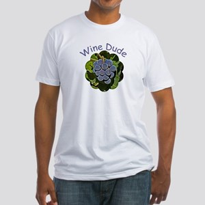 Wine Dude Grapes - Fitted T-Shirt