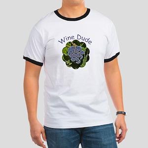 Wine Dude Grapes - Ringer T
