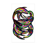 Impossible Geometry Rectangle Sticker 10 pk)