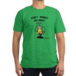 Don't Worry Bee Men's Fitted T-Shirt (dark)