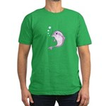 Cute Purple Dolphin Wi Men's Fitted T-Shirt (dark)