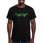 IDIOT! Men's Fitted T-Shirt (dark)