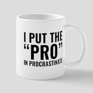 Pro In Procrastinate Large Mugs