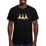 Burning Stare Penguins Men's Fitted T-Shirt (dark)